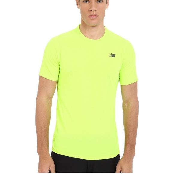 9ce4b2bd86e6c New Balance Shirts | Flux Short Sleeve T Shirt In Toxic Gre | Poshmark